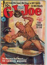G.I. Joe #15 War Comic Ziff Davis from 1952 GOOD Detached Cover