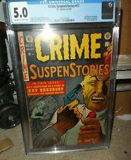 E C suspenstories Crime Ray Bradbury 17 CGC 5.0 Johnny Craig suicide cover