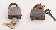 Pair Master Locks Lion Logo (D3R) No 1 22 w/Cut Key Padlock