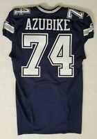 #74 Caleb Azubike of Dallas Cowboys NFL Locker Room Game Issued Jersey