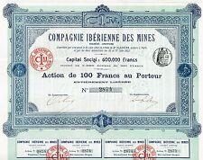 Spain Iberian Mining Company stock certificate 1902