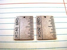 Ruler Stampings (2) - Sos8476 Oxidized Silver Pl 00004000 ated One Inch