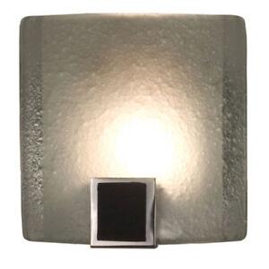 Pocket Contemporary Modern Glass Wall Sconce Halogen Light Chrome Black