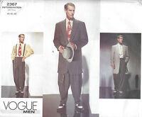 1940s Vintage VOGUE Sewing Pattern Chest 44-46-48 MEN'S ZOOT SUIT (1437)