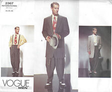 1940s Vintage VOGUE Sewing Pattern Chest 44-46-48 MEN'S ZOOT SUIT (1437)