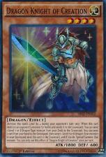 DRAGON KNIGHT OF CREATION Yugioh MINT Rare Card Rise of the True SR02-EN002