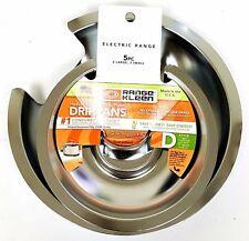 - NEW - Range Kleen 5-Piece Heavy Duty Chrome DRIP PANS - Model 10565X - Style D
