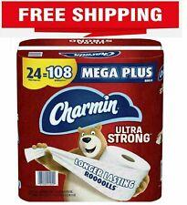 Charmin Ultra Strong Toilet Paper 24 Mega Plus Roll, Bath Tissue, 308 Sheets Per