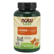 Now Foods Pet L-Lysine Powder 8 oz Made in USA FREE SHIPPING