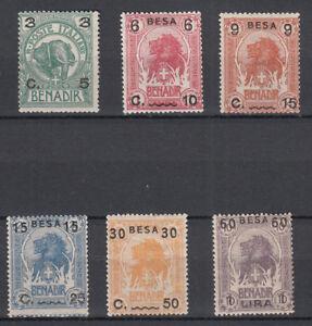 SOMALIA 1922 NUOVA TIR.ATURA SOVRASTAMPATI  6 VAL. SS. 24 - 29  MLH BELLA
