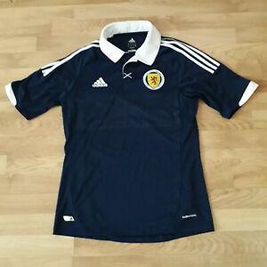 SCOTLAND NATIONAL TEAM 2011/2013 HOME FOOTBALL SHIRT JERSEY ADIDAS SIZE M