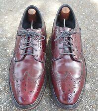 Vintage Hanover LB Sheppard Mens Wingtip Shoes 8.5 D/B Burgundy Longwing