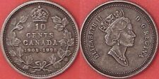Antique Proof 1908-1998 Canada Silver 10 Cents From Mint's Set