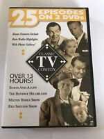 CLASSIC TV COMEDY (DVD, 2004, 3-Disc Set) 25 Episodes, LIKE NEW!