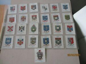 WD & HO Wills Arms of Universities 1923 Full Set of 25 Large cards in sleeves