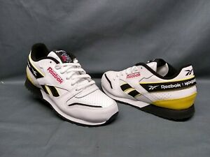 Reebok Classic Leather Ripple Athletic Sneakers White Yellow Boys Size 5.5 NEW!