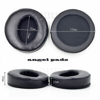 110mm Angle Genuine Leather Sheepskin Ear Pads Cushion Replacement for headphone