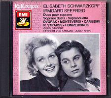 Elisabeth SCHWARZKOPF & Irmgard SEEFRIED Soprano Duets EMI CD Dvorak Monteverdi