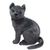 "Neko Cat Plush Doll Super Soft Cute Stuffed Animal Toy Black Big Size 10"""