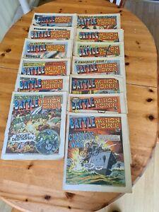 Vintage Battle Action Force Comics from 1986  bundle x11