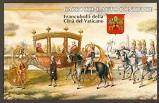 Vatican City 1997 Booklet Papal Carriages and Automobiles, Sc #1029-32a MNH