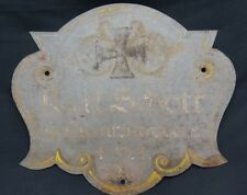 Authentic Wwi German Metal Ornate Grave Marker
