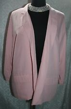 Chicos NWT Soft Blazer 3 XL 16 Sasha Blush Rose Pink New Womens Open Front