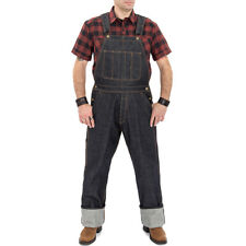 King Kerosin Rockabilly Vintage Denim Jeans Latzhose - Raw Wash Dungaree
