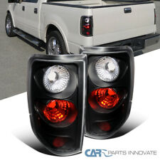 Fit Ford 04-08 F150 Styleside Pickup Black Tail Lights Brake Rear Lamps Pair