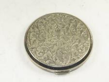 Vintage Stratton SILVER PLATED Ladies Cosmetic Compact & Mirror ART NOUVEAU