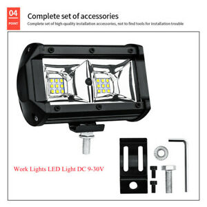 54W  LED Flood Spot Light Combo Work  SUV Motorcycle Offroad Driving Lighting