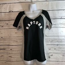 NBA Toronto Raptors Women's SMALL GRAY AND BLACK  T-Shirt - TT
