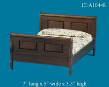 WALNUT SLEIGH BED 1:12 SCALE DOLLHOUSE MINIATURES