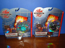 Bakugan Lot 2  Green SPIN DRAGONOID & SPIN RAVENOID blk