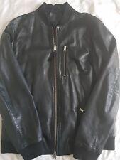 men's all saints leather bomber jacket