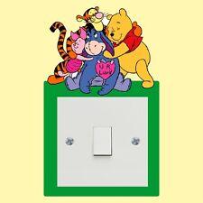 Winnie The Pooh light switch sticker - Wall Art Decal Stickers Quality vinyl New