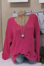 Chaud Douillet Pull Tricot Grossier Pull Vintage Oversize Rose 36 38 40