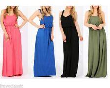 Patternless Summer Women's Maxi Dresses
