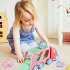 FUN LITTLE TOYS Cartoon Vehicles Car Carrier Truck Pink Toy for Girls