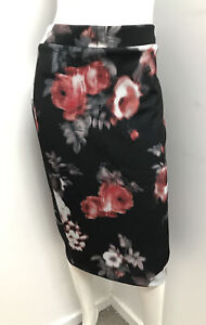 NWT ~ VERY VERY Blurred Floral stretch pencil Skirt  ~  sz 12  (rrp $99)