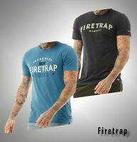 Mens Firetrap Straight Cotton Short Sleeve Jersey T Shirt Sizes from S to XXL