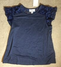 Cloud Chaser Girls Blue Shirt with Stars on Sleeves -  Size 12/14 - NEW