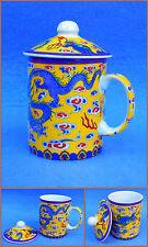 Tazza di tè bicchiere tè con coperchio Motivo Drago Cina tazza Nuovo