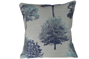 """Jacquard Trees Teal Filled & unfilled Cushions Handmade in the UK 18"""" 20"""" 22"""""""