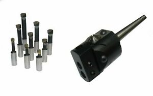 RDGTOOLS 35MM BORING HEAD VARIOUS TAPERS AND TOOLS 0, 1, 2, R8, 10MM, 8MM++