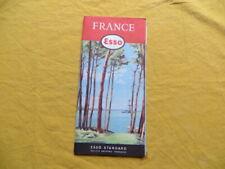 Carte de France routière - ESSO - 1957