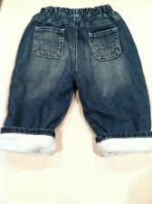 THE CHILDREN'S PLACE sz 12 mos. Blue Jeans with Blue Fleece Lining ADORABLE WARM