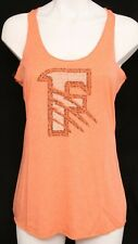 NEW Fresno Grizzlies Minor League Baseball Orange Racerback Tank Top Womens M