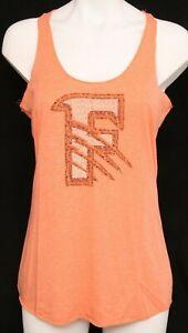 Fresno Grizzlies Minor League Baseball Orange Racerback Tank Top shirt Womens M