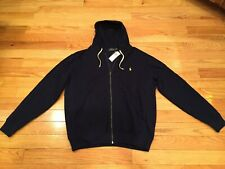 Polo Ralph Lauren Full Zip Front Fleece Hoodie Mens XLT Navy w/Pony NWT $125
